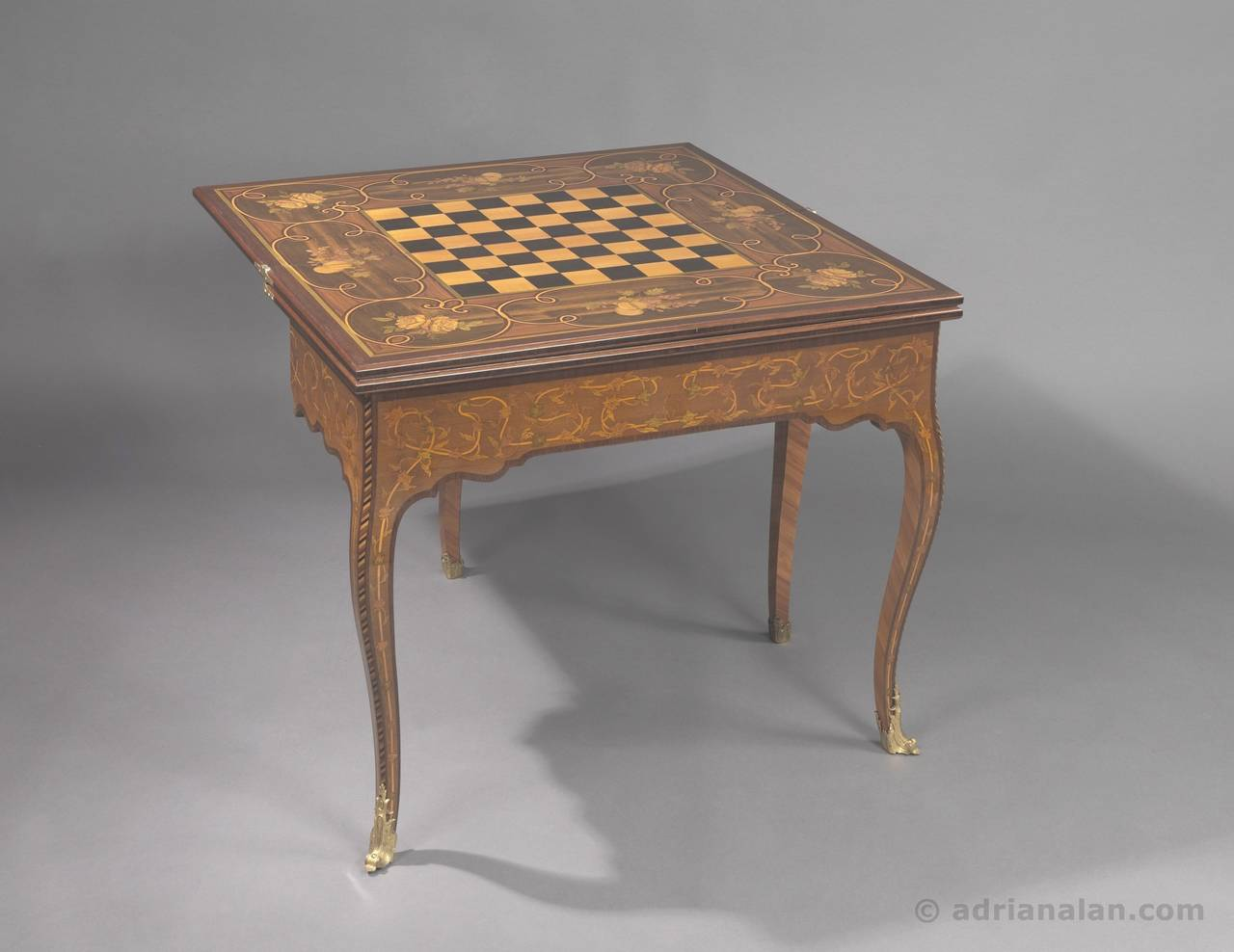 A Rare And Highly Important Russian Imperial Period Gilt Bronze Mounted And  Marquetry Inlaid,