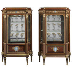 Pair of Louis XVI Style Vitrines by Joseph-Emmanuel Zwiener, French, circa 1880