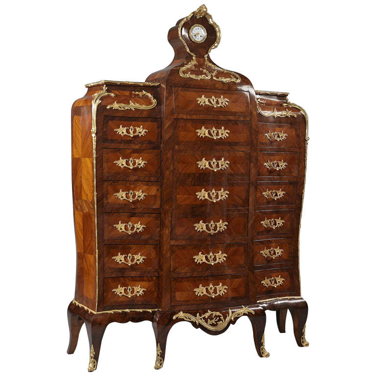 louis xv style secretaire en chiffonnier for sale at 1stdibs. Black Bedroom Furniture Sets. Home Design Ideas