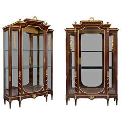 Pair of Louis XVI Style Gilt Bronze Vitrines by François Linke, circa 1890
