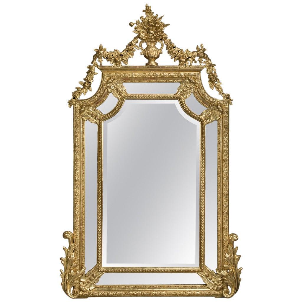 Carved Marginal Frame Giltwood Mirror 1