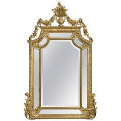 Carved Marginal Frame Giltwood Mirror