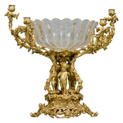 Fine Gilt Bronze and Moulded Glass Figural Centrepiece by Henri Picard