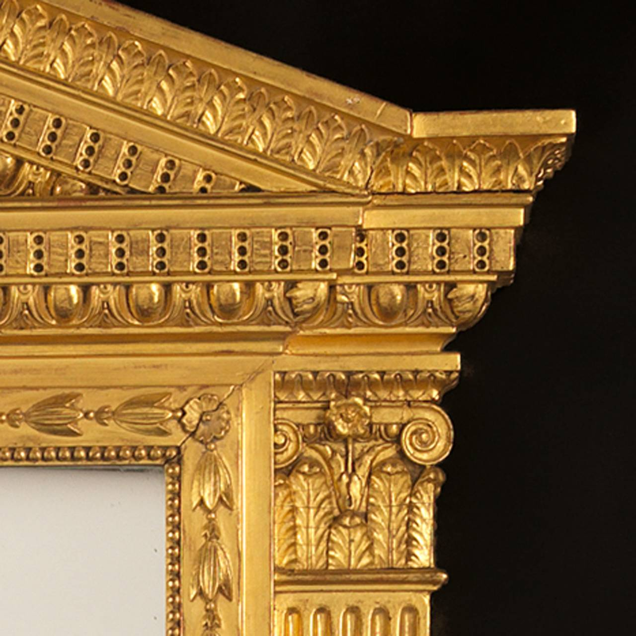 British George IV Giltwood Overmantel Mirror For Sale