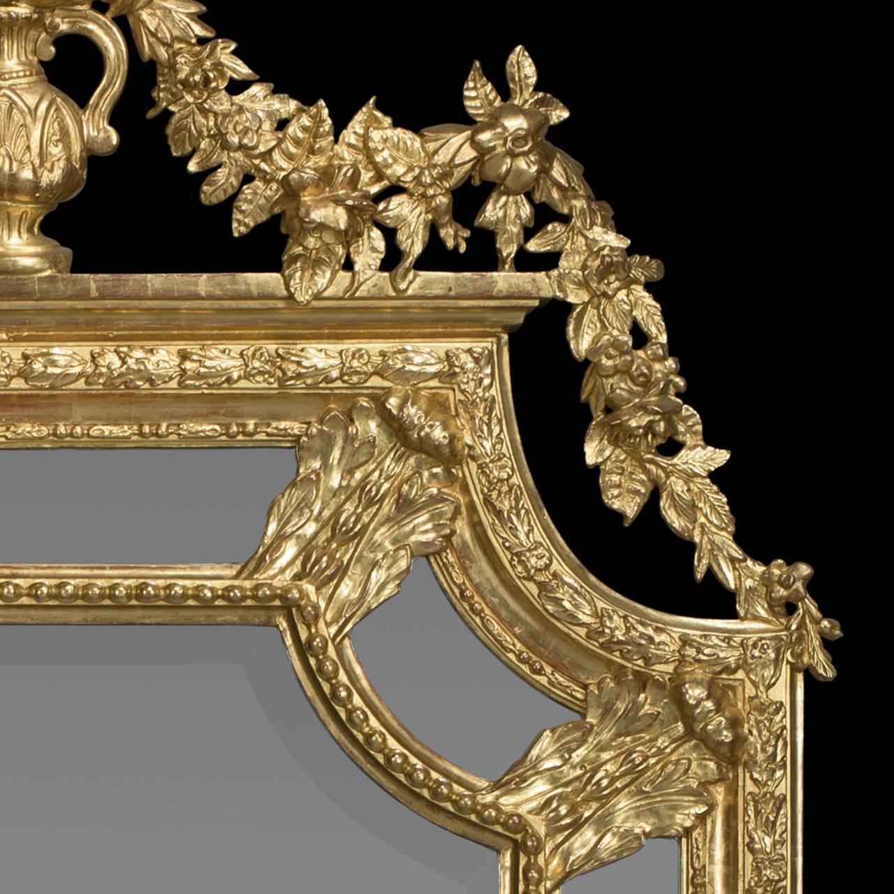 Carved Marginal Frame Giltwood Mirror 4