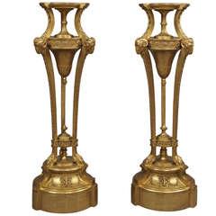 Pair of Giltwood Pedestals in the Manner of Robert Adam, circa 1890