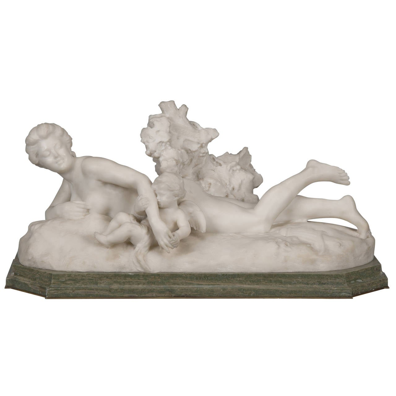 Marble Figural Group by Henri Weigèle