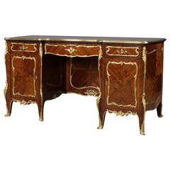 Marquetry Pedestal Desk by François Linke, circa 1900