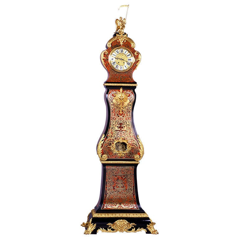 Fine Napoleon III Boulle Longcase Clock