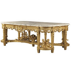 A Louis XVI Style Giltwood Centre Table by François Linke, Circa 1914