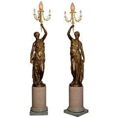 Pair of Figural Candelabra