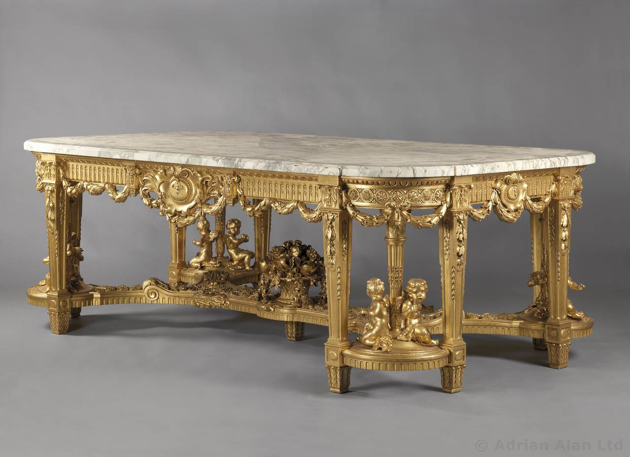 louis xvi style centre table by fran ois linke for sale at 1stdibs. Black Bedroom Furniture Sets. Home Design Ideas