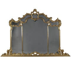 Carved Giltwood Overmantel Mirror, circa 1890