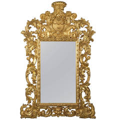 Baroque Style Carved Giltwood Mirror, circa 1870