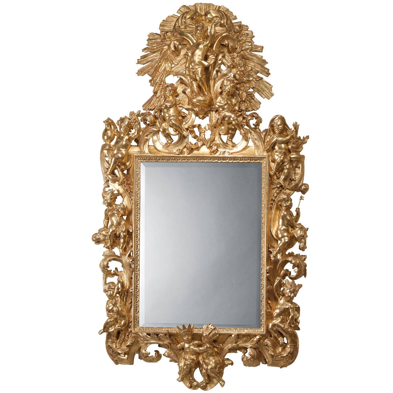 Italian Giltwood Mirror, circa 1860