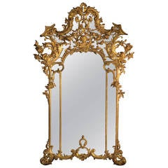 Rococo Style Giltwood Mirror