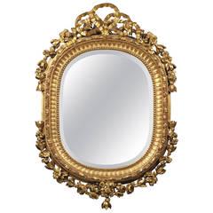 Round David Marshall Reverse Gilt Greek Key Mirror At 1stdibs