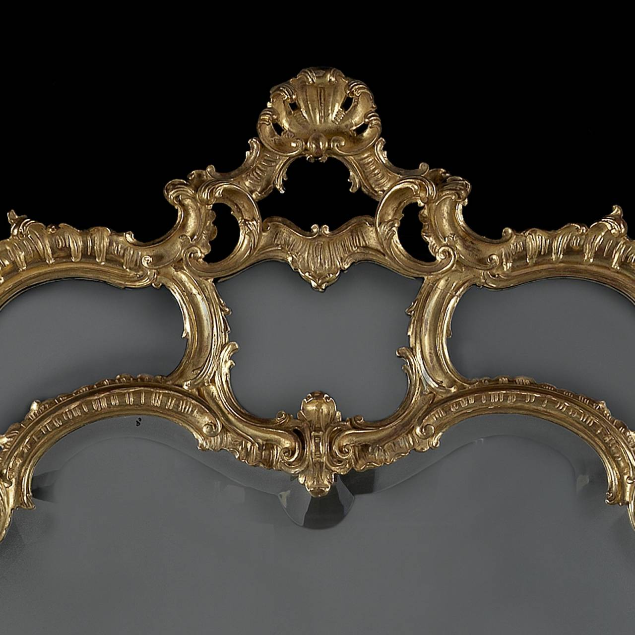 Large Carved Giltwod Overmantel Mirror 3