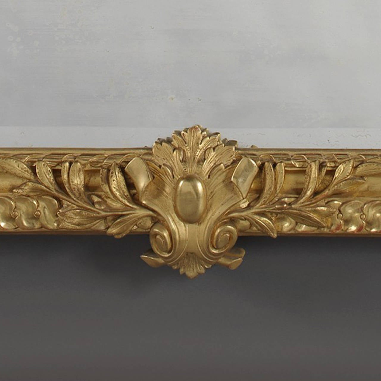 Louis XVI Style Carved Giltwood Mirror For Sale 1