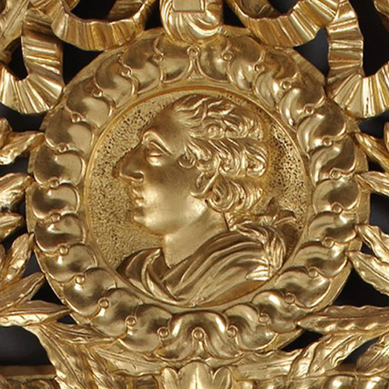 French Louis XVI Style Carved Giltwood Mirror For Sale