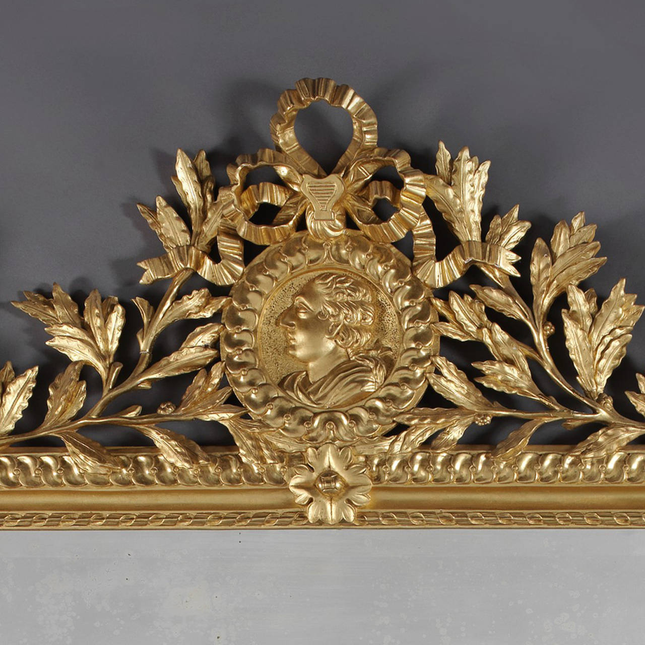 Louis XVI Style Carved Giltwood Mirror 2