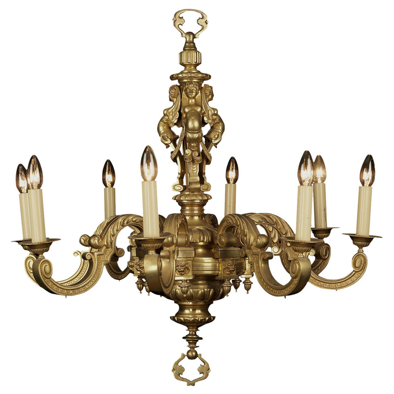 Gilt-Bronze Louis XIV Style Eight-Light Chandelier, circa 1890