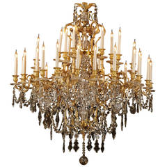 Large Napoléon III Thirty-Six-Light Chandelier