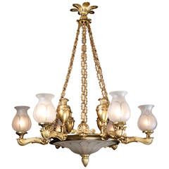 Regency Six-Light Chandelier by Hancock & Co