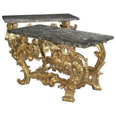 Pair of Giltwood Console Tables