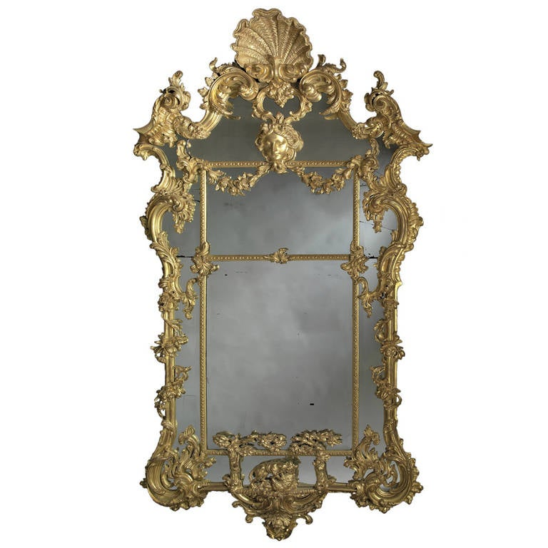 Carved Giltwood Mirror after Thomas Johnson 1