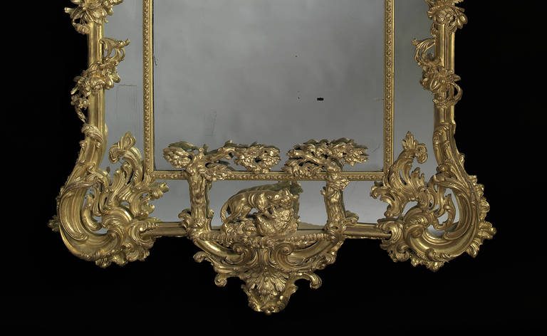 Carved Giltwood Mirror after Thomas Johnson 4
