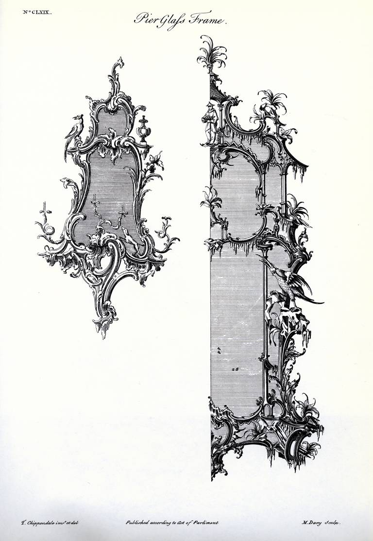 Pair of Chippendale 'Director' Style Chinoiserie Mirrors 5