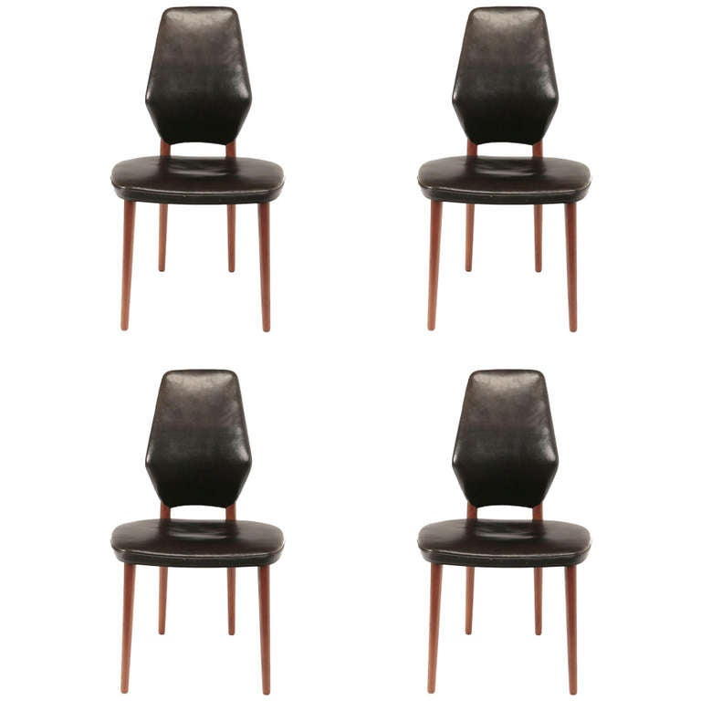 set of four dining chairs by vestergaard jensen at 1stdibs