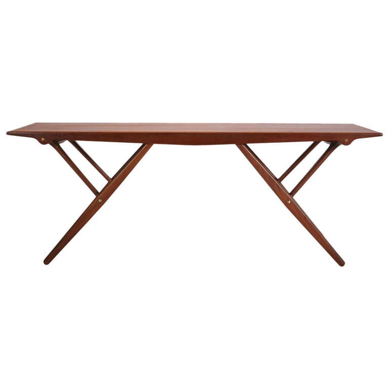 Height adjustable table by vestergaard jensen at 1stdibs for Height of cocktail tables