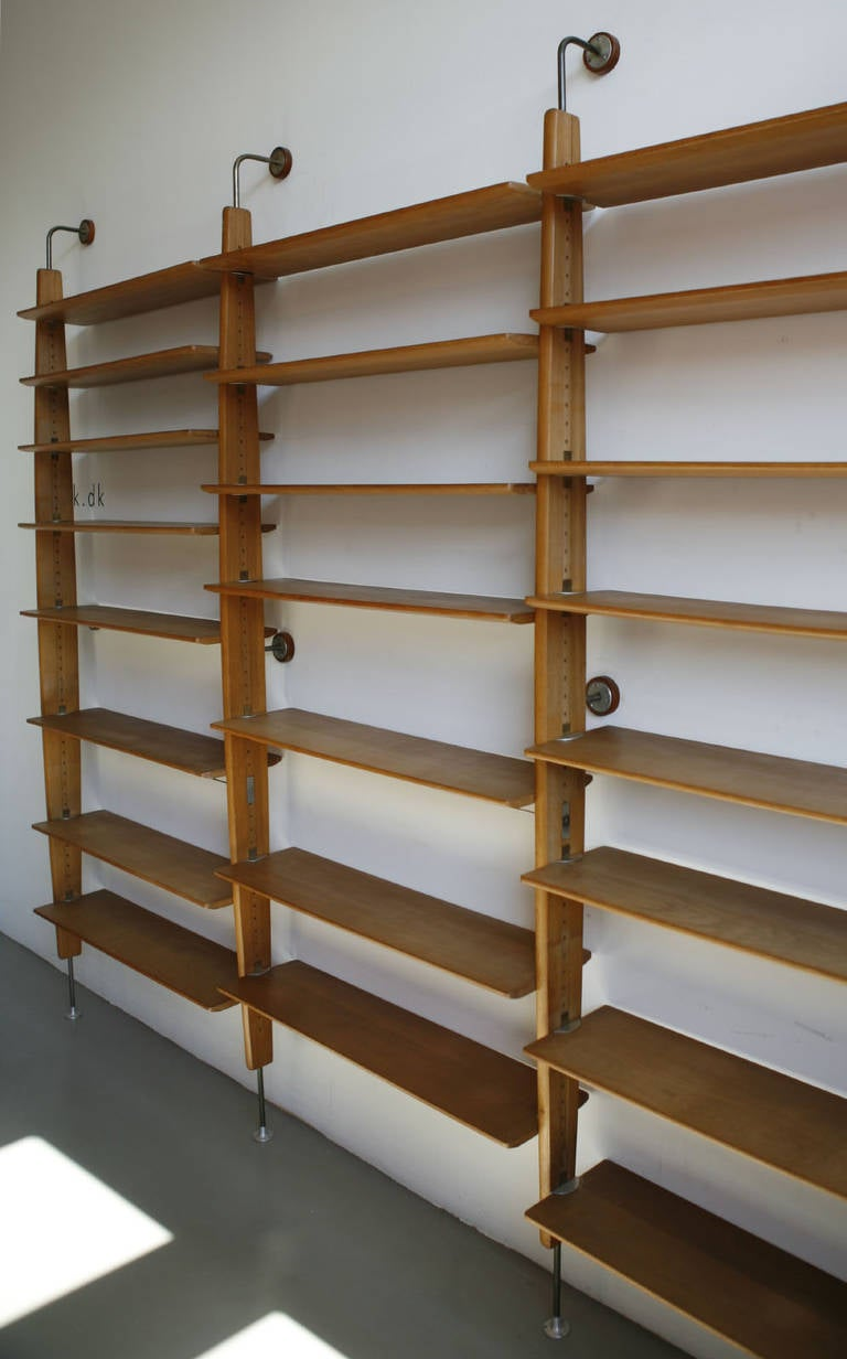 Wall mounted shelving system at 1stdibs Wall mounted shelf systems