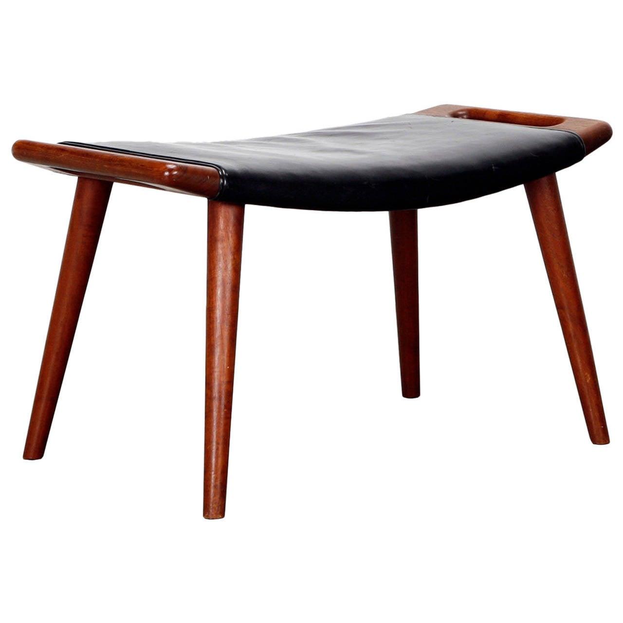 stool by hans wegner at 1stdibs. Black Bedroom Furniture Sets. Home Design Ideas