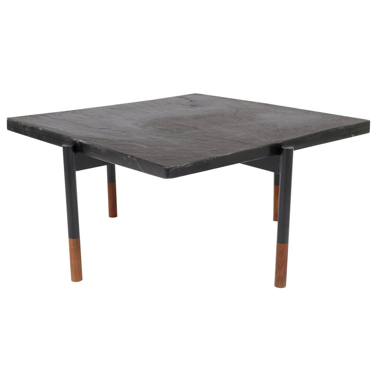 Coffee table with slate top at 1stdibs Slate top coffee tables