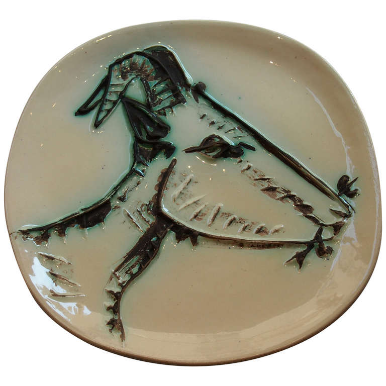 1950 S Picasso Plate Edition Madoura Goat S Head In