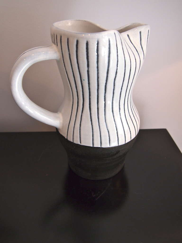 Mid-20th Century Jacques Innocenti Vallauris Ceramic Drinking Set 1950's For Sale