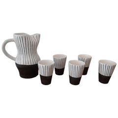 Jacques Innocenti Vallauris Ceramic Drinking Set