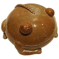Dalo's Ceramic Frog Sculpture