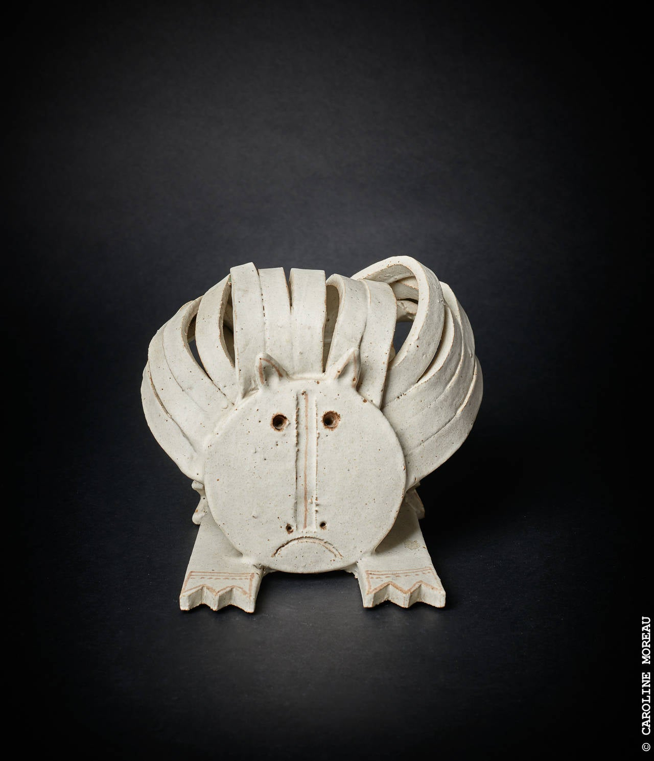 Cat Ceramic Sculpture by Bruno Gambone 1970's 6
