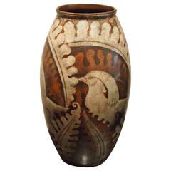 Charles Catteau Art Deco Ceramic Bird Vase