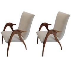 Pair of Armchairs by Malatesta and Masson, 1950