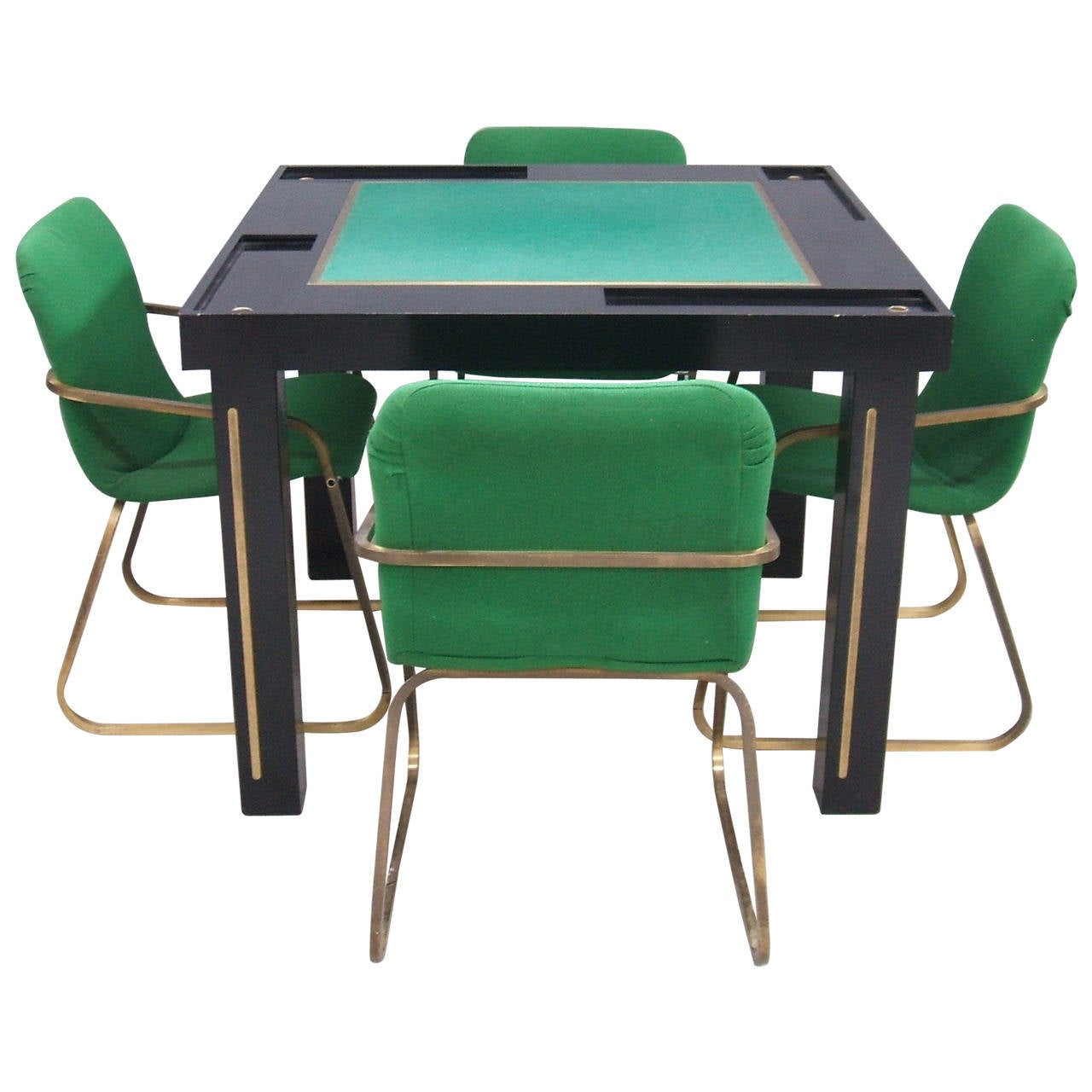 Game table with four chairs at 1stdibs for 10 games in 1 table