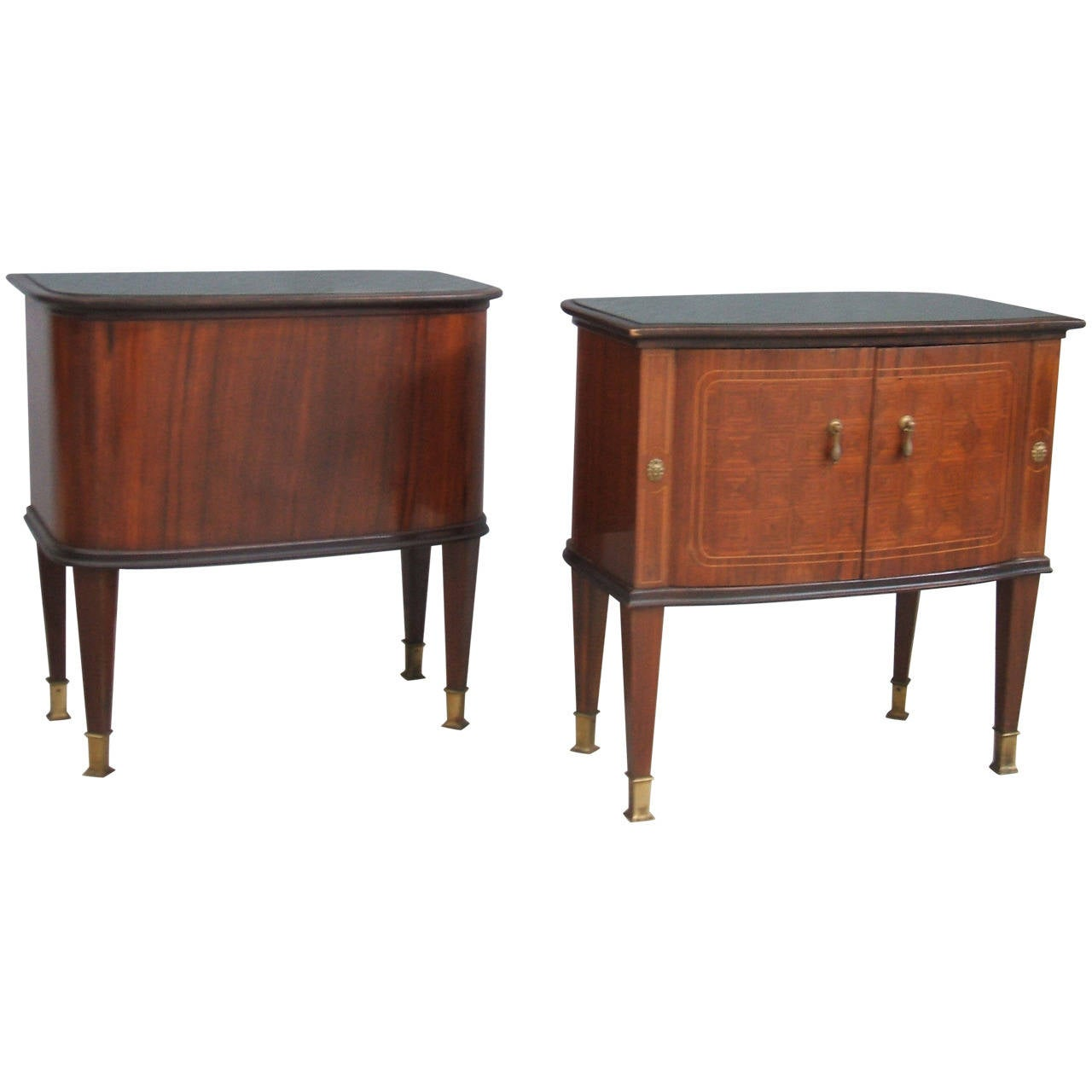 Awesome Pair of Bedside Tables in the Style of Paolo Buffa