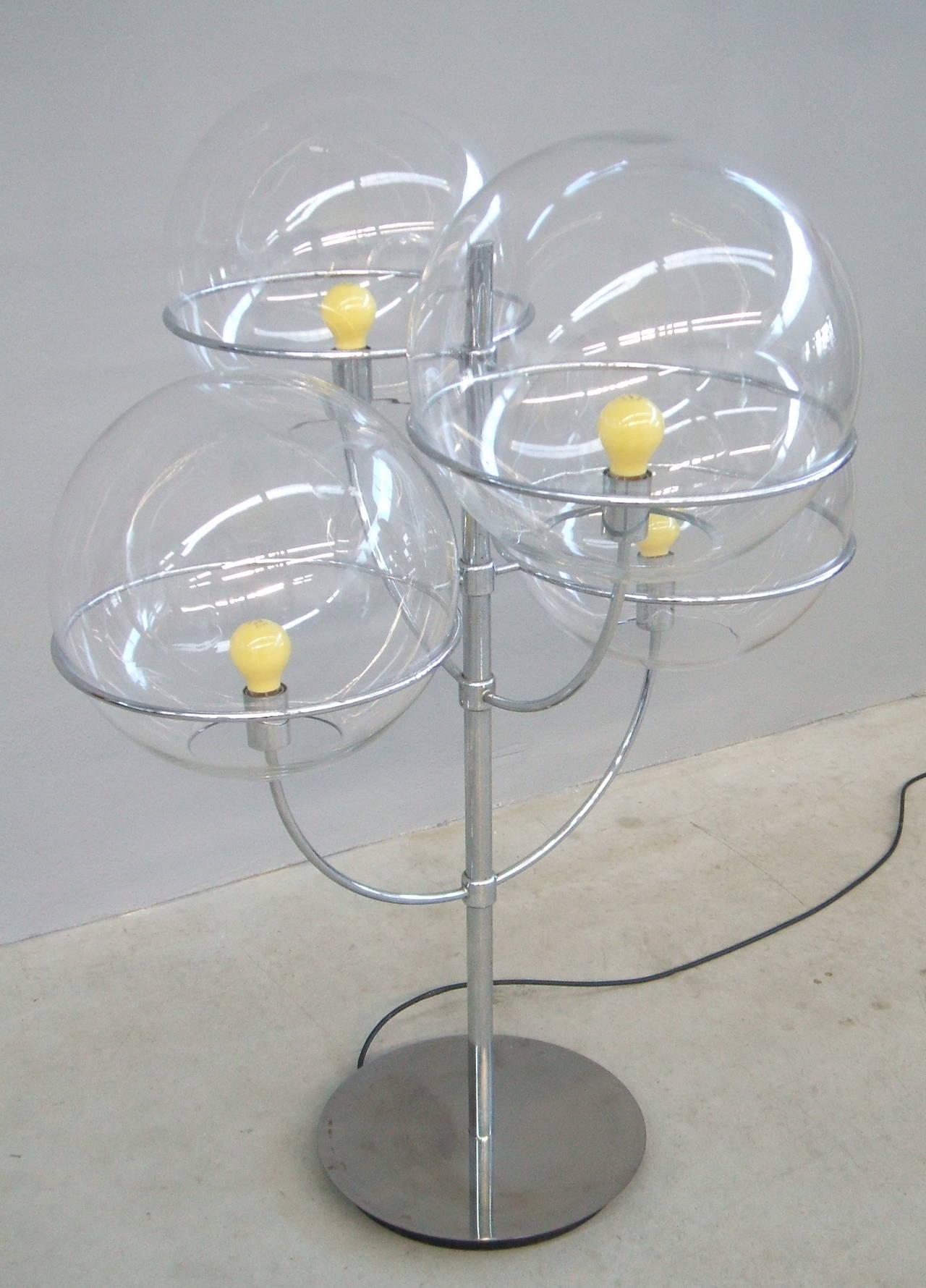 Italian Lyndon De Sol Floor Lamp by Vico Magistretti For Sale