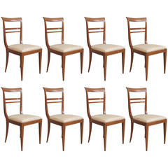 Set of Eight Chairs Attributed to Paolo Buffa