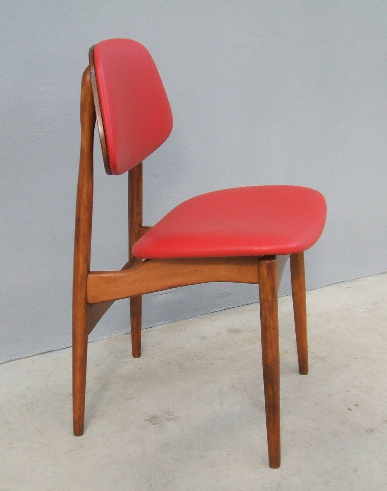 Fine Set of Six Italian 1950s Chairs In Excellent Condition For Sale In Carpaneto Piacentino, Italy