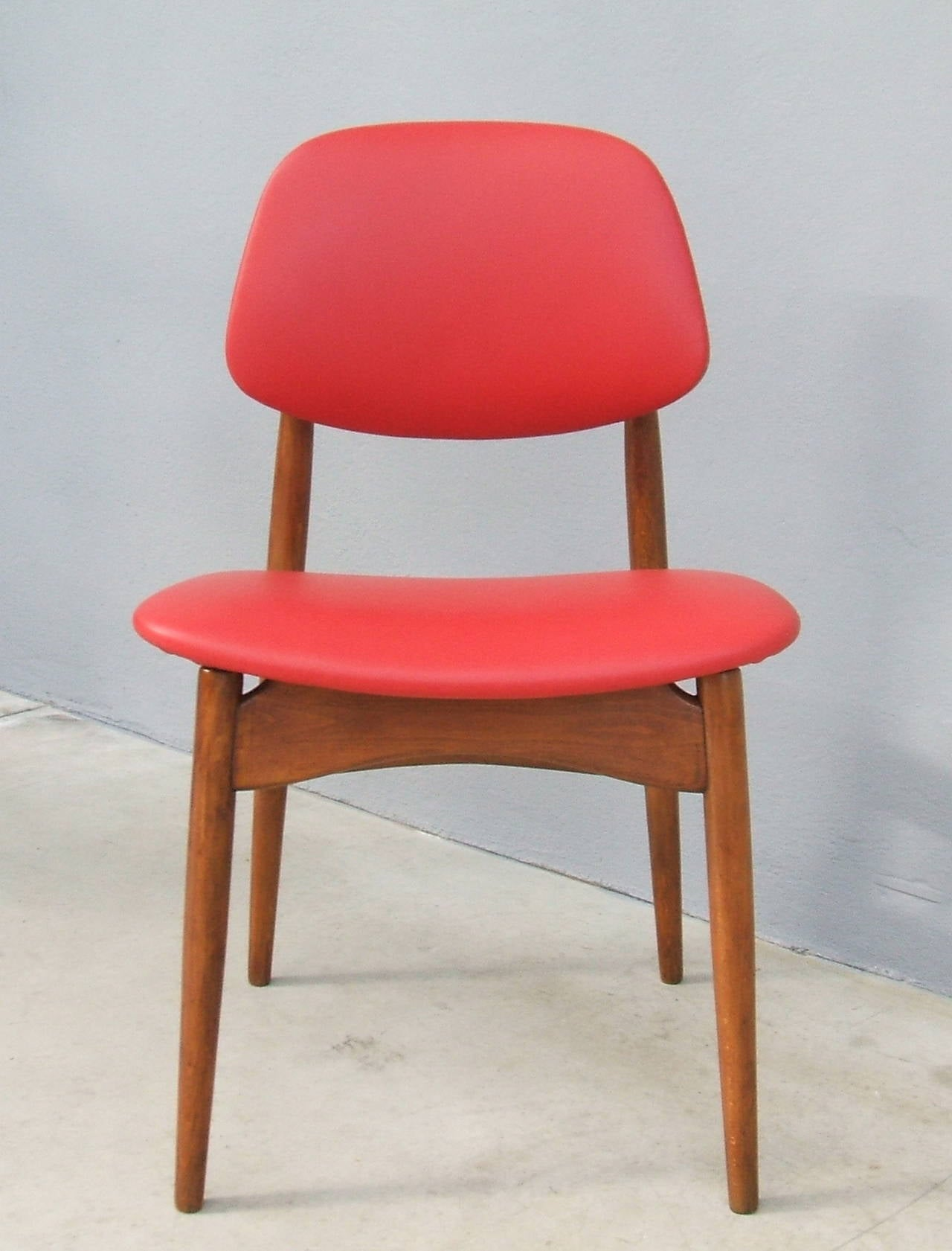 Mid-20th Century Fine Set of Six Italian 1950s Chairs For Sale